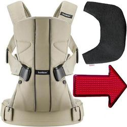 Baby Bjorn - Baby Carrier One with Bib and LED Light - Khaki