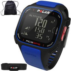 Polar - RC3 GPS Heart Rate Monitor Watch with Cinch Bag - Blue