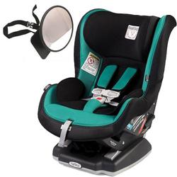 Peg Perego - Primo Viaggio Convertible Car Seat with Back Seat Mirror  - Aquamarine