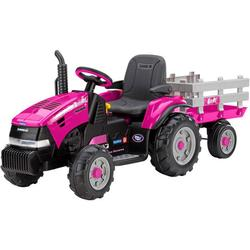Peg Perego IGOR0067 Case IH Magnum Tracktor with Trailer - Pink