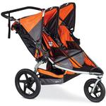BOB ST1372 - Revolution FLEX Duallie Double Stroller - Orange/Silver