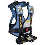 Safe Traffic Systems JD14200BLB - Ride Safer 2 Travel Vest Large, - Blue