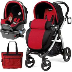 Peg Perego - Book Plus Stroller Travel System with a Diaper Bag - Flamenco