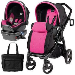Peg Perego - Book Plus Stroller Travel System with a Diaper Bag - Fucsia