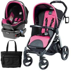 Peg Perego - Book Stroller Travel System with a Diaper Bag - Fucsia