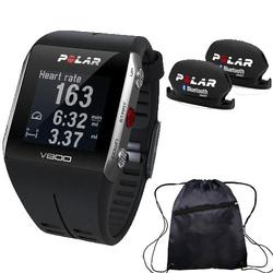 Polar - V800 GPS Sports Watch with Bluetooth Cadence Sensor Set and Bag - Black