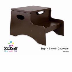 KidKraft 15633 Step N Store Stool, Chocolate