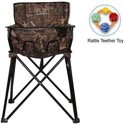 ciao! baby - Portable High Chair with Rattle Teether Toy - Mossy Oak Infinity