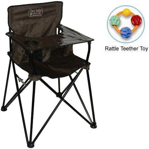 Ciao Baby ciao  baby - Portable High Chair with Rattle Teether Toy - Chocolate at Sears.com