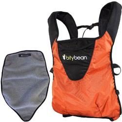 Bitybean - UltraCompact Baby Carrier with Fleece Liner - Carrot Orange