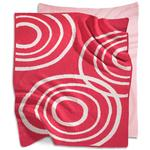 Nook Sleep Systems KBL-RPL-BLS - Knitted Organic Cotton Blanket - Blossom (Bright Pink)