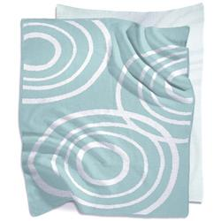 Nook Sleep Systems KBL-RPL-GLS - Knitted Organic Cotton Blanket - Sea Glass (Light Blue)