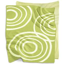 Nook Sleep Systems KBL-RPL-LWN - Knitted Organic Cotton Blanket - Lawn (Bright Green)