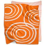 Nook Sleep Systems KBL-RPL-POP - Knitted Organic Cotton Blanket - Poppy (Orange)
