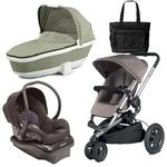 Quinny Buzz Xtra Travel System with Grey Bassinet and a Bag - Grey/Black