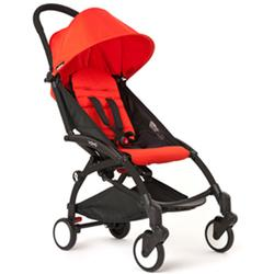 BabyZen - YOYO 6+ Months Stroller - Black with Red