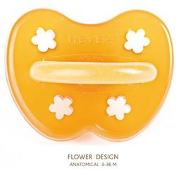 Hevea 224200 - Flower Natural Rubber Orthodontic Pacifier - 3+ Months