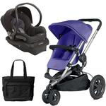 Quinny Buzz Xtra Travel System in Purple/Black with Diaper Bag