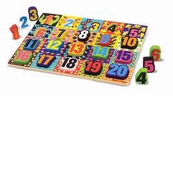 Melissa and Doug Jumbo Numbers Chunky Puzzle (3832)