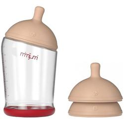 Mimijumi - 8 Ounce Very Hungry Baby Bottle and Nipples Set - Medium Flow
