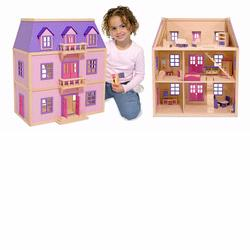 Melissa and Doug Multi-Level Solid Wood Dollhouse (4570)