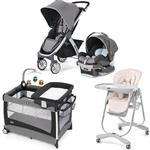 Chicco - Bravo Stroller Trio System with Playard and High Chair Combo - Lilla