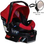 Britax - B-Safe 35 Infant Car Seat with Back Seat Mirror - Red