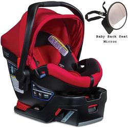 Britax - B-Safe 35 Elite Infant Car Seat with Back Seat Mirror - Red Pepper