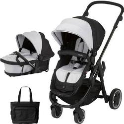 Kiddy - Click n Move 3 Stroller and Carrycot with Diaper Bag - Stone