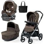 Peg Perego - Book Pop-Up Stroller Travel System with Bag - In Circles Brown