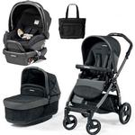 Peg Perego - Book Pop-Up Stroller Travel System with Bag - In Circles Grey