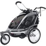THULE 10101510 Chariot Chinook Single Bicycle Trailer with Strolling Kit - Black