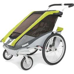 THULE 10100534 Chariot Cougar Single Bicycle Trailer with Strolling Kit - Avocado