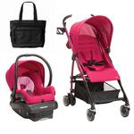 Maxi-Cosi - Kaia Travel System With Diaper Bag - Sweet Cerise
