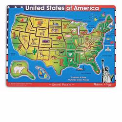 Melissa and Doug U.S.A. Map Sound Puzzle (0715)