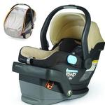 UPPAbaby MESA Lindsey Wheat Car Seat with Mica Grey Cabana Car Seat Shade