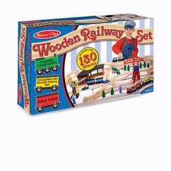 Melissa and Doug Wooden Railway Set (0701)
