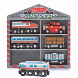 Melissa and Doug Wooden Train Cars (0641)