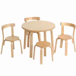Anka A8501 Tables and Chairs Mini Furniture in Natural