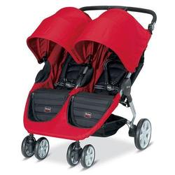 Britax - B-Agile Double in Red with matching diaper bag
