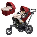 Orbit Baby ORB818000KR O2 Jogging Stroller - With Car Seat And Bassinet, Ruby