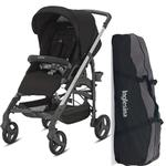 Inglesina AG37H6TBKUS- Trilogy Stroller - Black with Bag