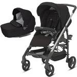 Inglesina AG37H6TBKUS- Trilogy Stroller - Black with Bassinet