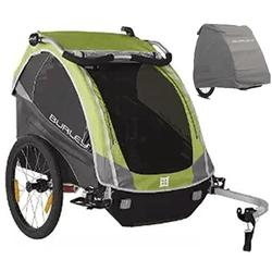Burley 948304K D'Lite Bike Trailer Green With Storage Cover