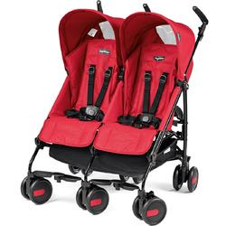 Peg Perego - Stroller Pliko Mini Stroller Twin Mod Red