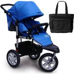 Tike Tech NEW  CityX3 Swivel Single Jogging Stroller with bag- Blue Pacific