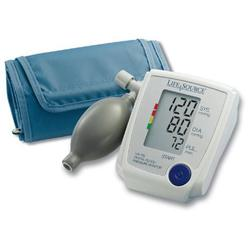 Lifesource UA-705VL Advanced Manual Inflate Blood Pressure Monitor with Pressure Rating Indicator -  Large Cuff