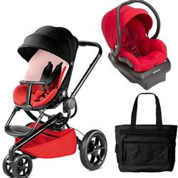 Quinny Moodd Travel System with Bag in Bold Block Red and Red  sc 1 st  HealthCheckSystems & Quinny Moodd Stroller Bold Block Red With Carseat And Bag ...