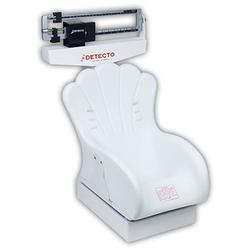 Detecto scales - Detecto Tot Weigher mechanical infant scale has a die cast, dual reading beam with soft, foam padded, inclined chair seat (slips on and off platform). This mechanical infant scale has a heavy duty rust resistant understructure with nonskid pads.