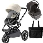 Quinny Moodd Travel System with Bag in Bold Block Grey and Black